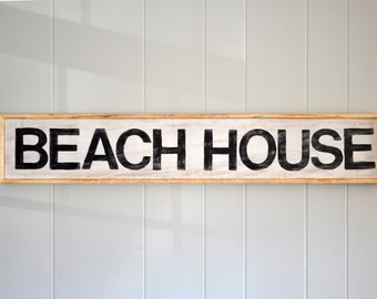 "Beach House Sign | Approx. 24"" wide 