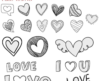 Photoshop Heart & Love Brushes, Heart Brushes, Love Brushes, Photoshop Brush, Digital Photoshop Brushes