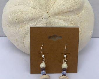 Silver Howlite Earrings