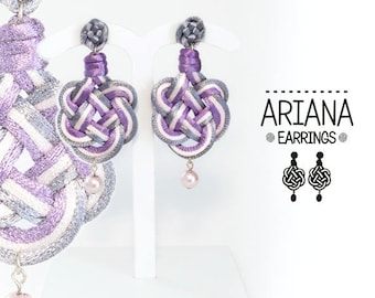 Ariana 1 Earring. Fabric, knot, Celtic knotwork earrings.