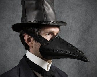 Corax Riveted Plague Doctor half mask leather