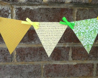 The Secret Garden Paper Pennant Banner Decoration for Parties, Nursery Decor, and Kids Room Decor