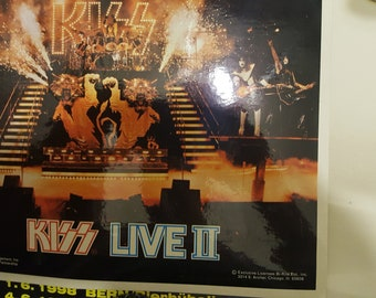 Kiss Live 2 Photo with magazine with guest star Eric Carr and much more