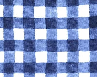 Mini Painted Gingham (Navy) - Double Gauze - Sarah Jane - Sommer - Michael Miller Fabrics - 1 Yard