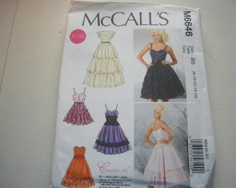 Pattern Ladies Party Dresses 4 Styles Sizes 8 to 16  McCalls 6646