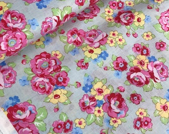 Grayish Floral Bouquet Print from the 1930's Collection by Lecien Fabrics