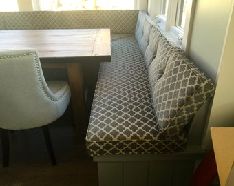 Kitchen Dining Banquette Bench Cushions Custom Made EXAMPLE