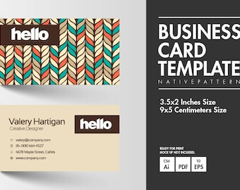 Business Card - Native Pattern