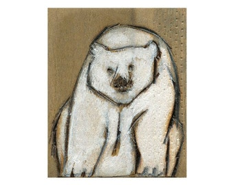 Polar Bear Giclee Art Print, polar bear wall art, bear painting, thepaintedgrove