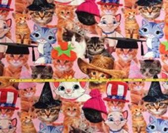 "NEW Kitty galore cotton lycra knit fabric 95/5 58"" wide."