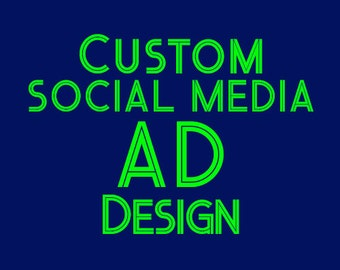 Custom Ad Design, Social Media Ad, Twitter Ad, Facebook Banner, Ad Design, Custom Ad, Ad Design