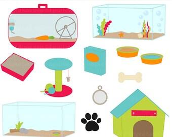 animals pets clip art clipart - Pet Friends Accents Digital Clip Art - BUY 2 GET 2 FREE