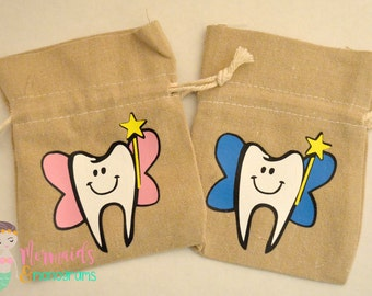 Personalized Tooth Fairy Bag, Tooth Fairy, Tooth Fairy Pouch,Tooth Fairy Bag, Tooth Fairy Keepsake, Boy Tooth Fairy Bag, Boy Tooth Fairy Bag