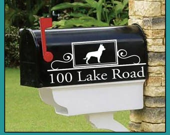 Chihuahua Personalized set of 2 matching mailbox decals!  MAI-00015