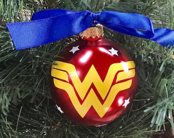 Personalized Wonder Woman Christmas Ornament