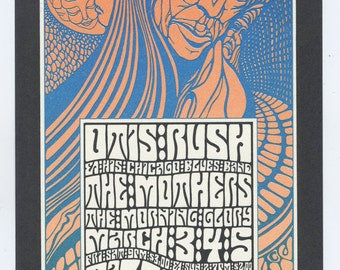 Bill Graham 53 Postcard 1967 Mar 3 Otis Rush Mothers Morning Glory