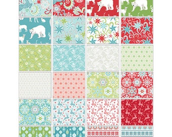 Nordic Holiday - Layer Cake - Christmas - Quilt fabric - Contempo (Benartex) Reindeer, Polar Bears, Snowflakes