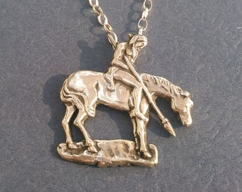 End Of The Trail  Sterling Silver Necklace