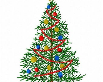 Christmas Tree Machine Embroidery Design ~ Instant Download