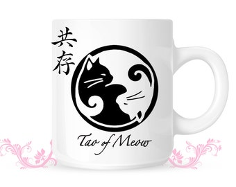 Yin Yang Lucky cat - Tao of Meow - Cool coffee Mug
