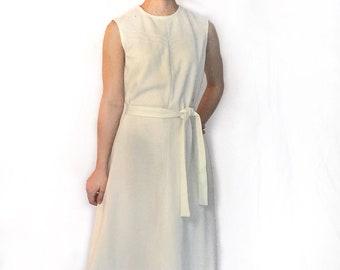Super Sweet Sleeveless Cream Day Dress