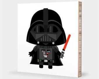 Darth Vader | Star Wars nursery art, Star Wars kids decor , Star Wars bedroom, baby Vader, Star Wars baby - Star Wars ABC bamboo wall art