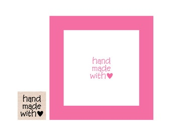 Mini Hand Made with Love Rubber Stamp