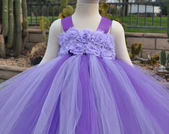 Purple Lilac Flower Girl Dress, Lavender Flower Girl Dress, Purple Lilac Toddler Dress, Lilac Infant Dress, Lavender Baby Dress