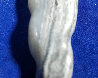 Banded Chalcedony Pendant - Hand Carved Will work with Beading