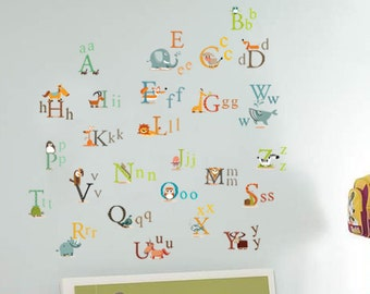 Alphabet Wall Stickers / decal AWS877