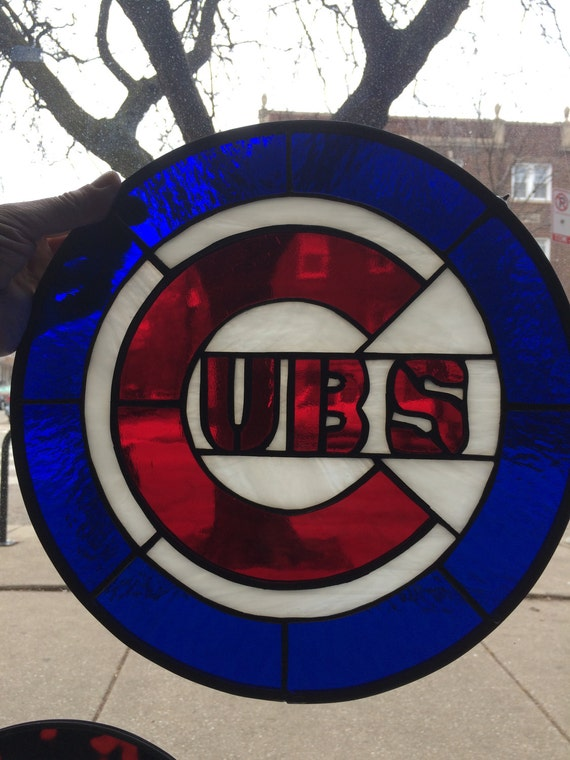 Chicago Cubs Symbol Stained Glass