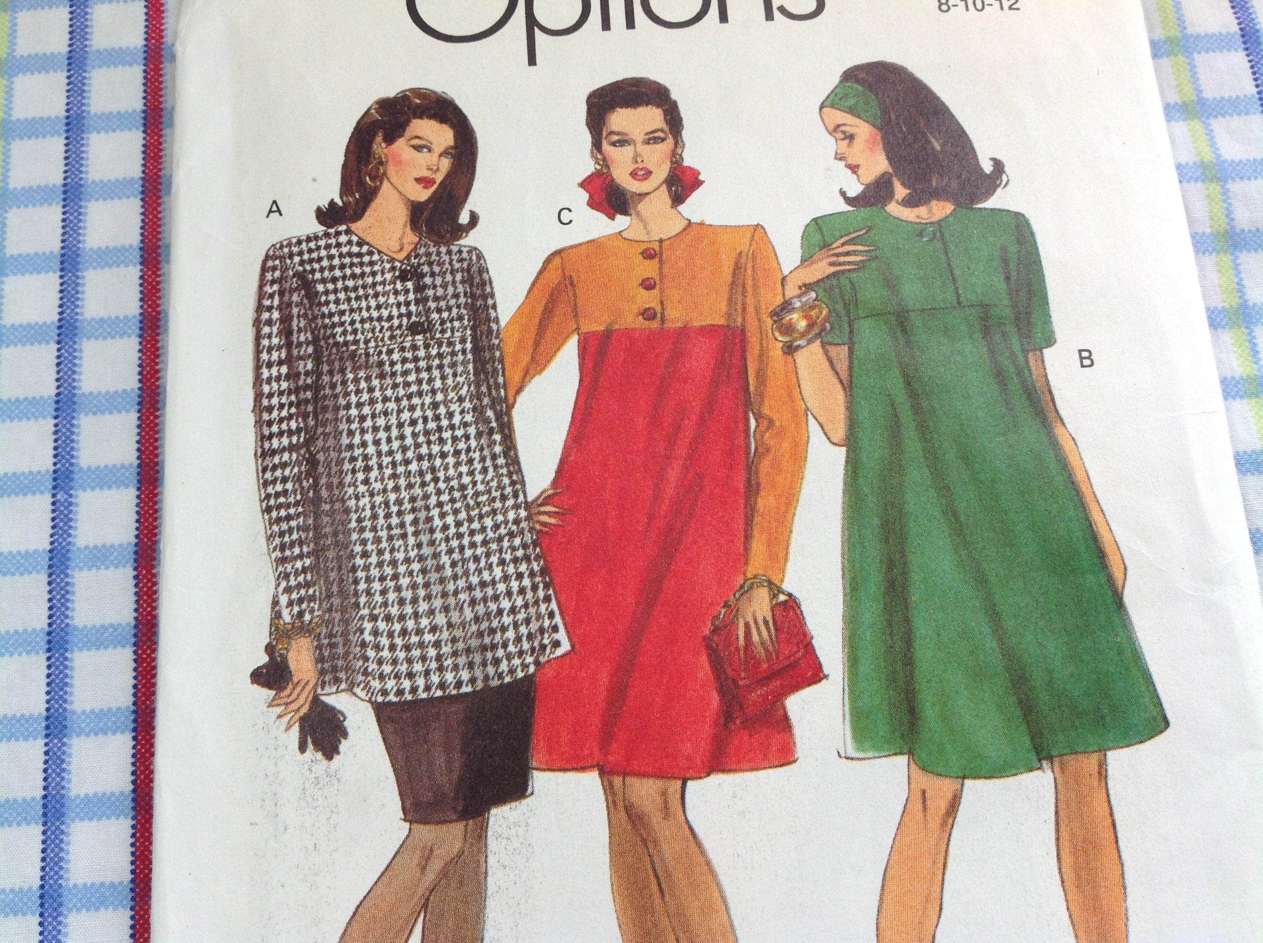 Vintage Vogue Pattern 8198 Dress Pattern Tunic Pattern