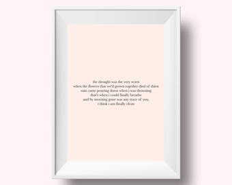 Taylor Swift Lyrics, Taylor Swift Clean Lyrics, Taylor Swift Quote, Taylor Swift Print, Taylor Swift Wall Art, Taylor Swift Gift