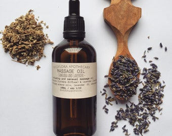 MASSAGE OIL  - Lavender & Damiana | Sensual and Relaxing