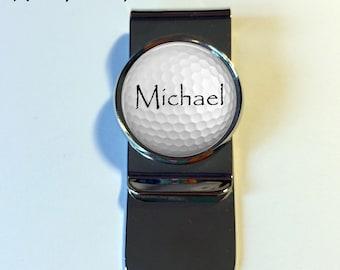 MONEY CLIP - Personalized Golf ball Money Clip - Golf ball money clip - Men's Gift - Gift for Boyfriend - Gift for Husband - Groomsmen gift