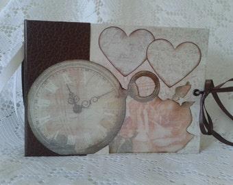 Scrapbook, Photo Album, Wedding/Anniversary Scrapbook, 7.5 x 5.5 Handmade Photo Album, Memory Book