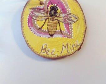 Honeybee, bee,bee-mine, ornament, rustic,save the bees