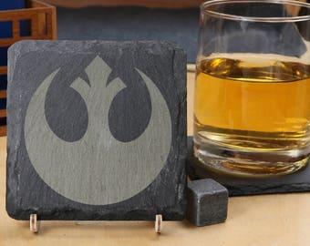 Star Wars - Rebel Alliance - Premium Natural Slate Coasters