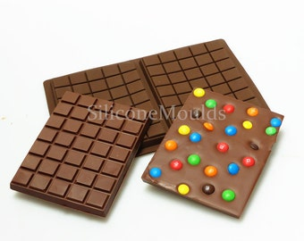2 cell LARGE SLAB BAR Mould  (makes bars approx 275g)  Chocolate Candy Bar Silicone Mold