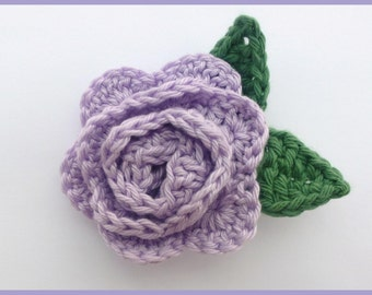 Crochet brooch. Lilac crochet rose brooch, Mother's day gift, birthday gift, brooch pin,  flower corsage, Christmas gift,