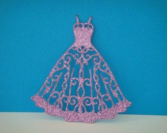 Cutout dress purple glitter for creation