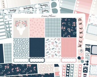 Fall in Love Weekly Kit or Al a Carte (matte planner sticker, fits perfect in Erin Condren Life Planner Vertical)