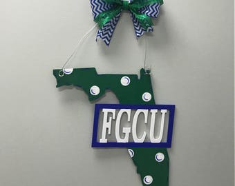 Florida Gulf Coast University door sign