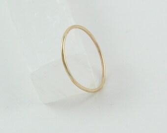 Super thin gold ring | Ultra thin ring | Dainty gold ring | Minimal gold ring | Gold stacking ring | Stackable gold ring | Simple gold ring