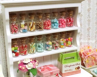 Miniature Candy Cane Mint Candies Sweets, for Dollhouse Diorama Sylvanian Families Dolls Food, Cute Kawaii Gift DIY Craft Jewelry