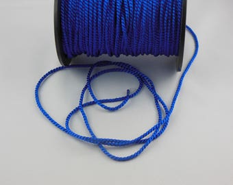 Soutache blue twisted cord