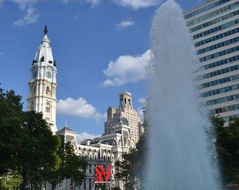 City Hall with Love Park Philadelphia,PA
