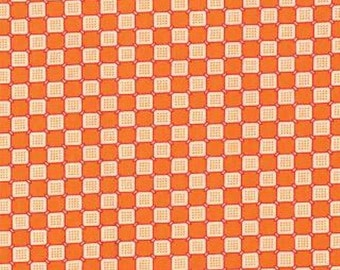 Moda - Ducks in a Row by American Jane Children's Novelty Checkerboard in Orange 21656-12 by the Yard