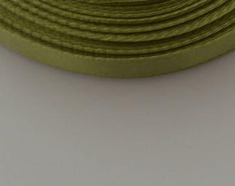 25 m width 10mm olive satin ribbon
