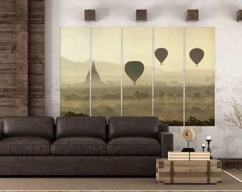 Balloons over Bagan Leather Print/Extra Large Print/Multi Panel Print/Better than Canvas!